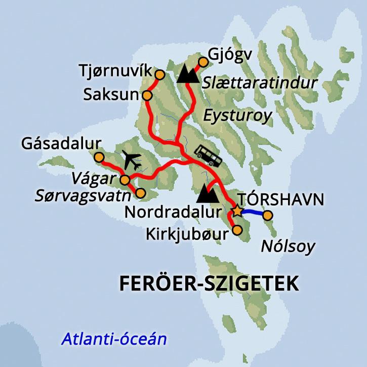 Mesés Feröer-szigetek Feröer szigetek, Dánia #mapImageWidget