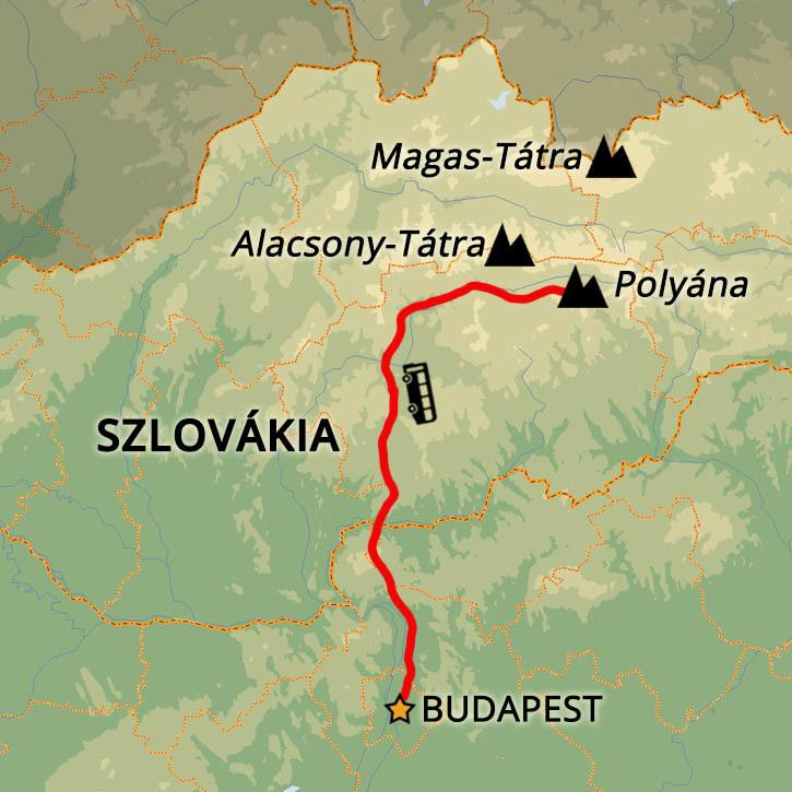 Polyána-hegység Egynapos Túra Polyána-hegység, Szlovákia #mapImageWidget