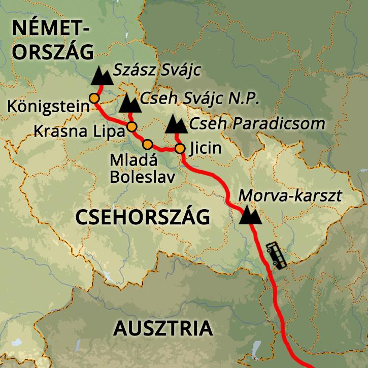 Cseh Homokkövek és Szász Svájc Csehország, Szász-Svájc #mapImageWidget