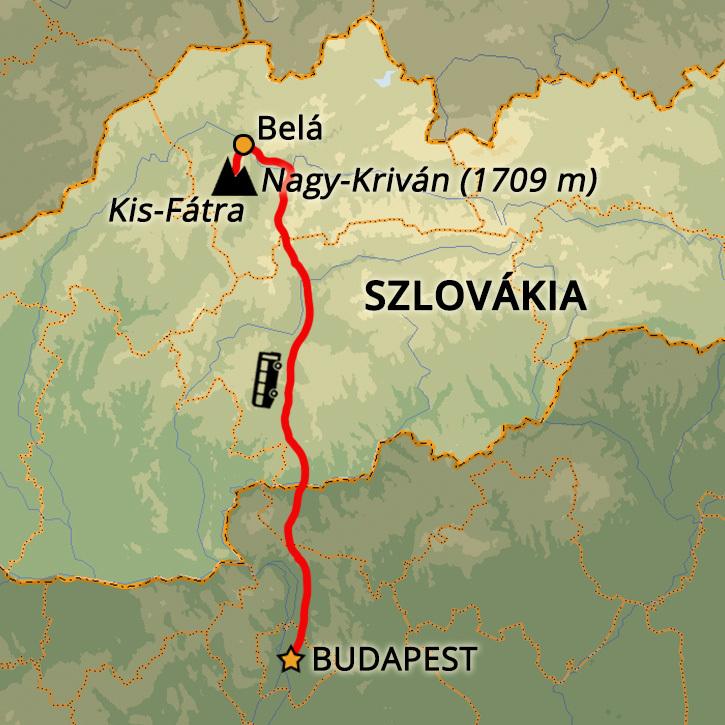 Kis-Fátra Téli Túra Hótalpakkal Szlovákia, Kis-Fátra #mapImageWidget