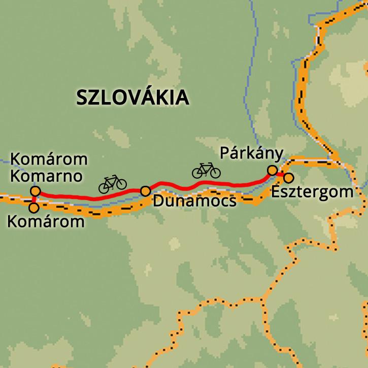 Komárom-Esztergom egynapos kerékpártúra Magyarország #mapImageWidget