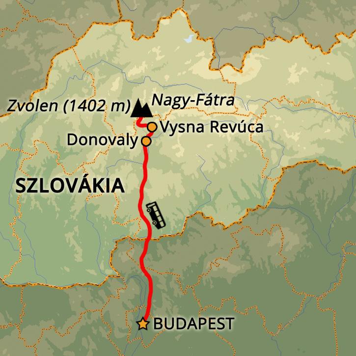 Nagy-Fátra Téli Túra Hótalpakkal Nagy-Fátra, Kárpátok, Szlovákia #mapImageWidget