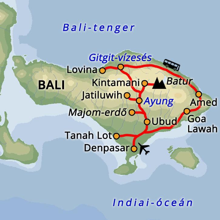 Bali: óceán és hegyek Indonézia #mapImageWidget