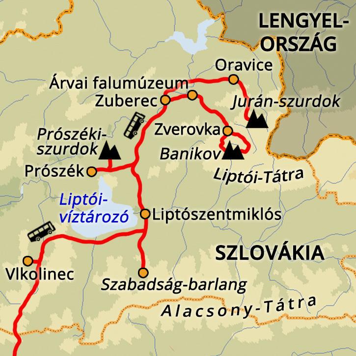 Liptói-Tátra Szlovákia #mapImageWidget