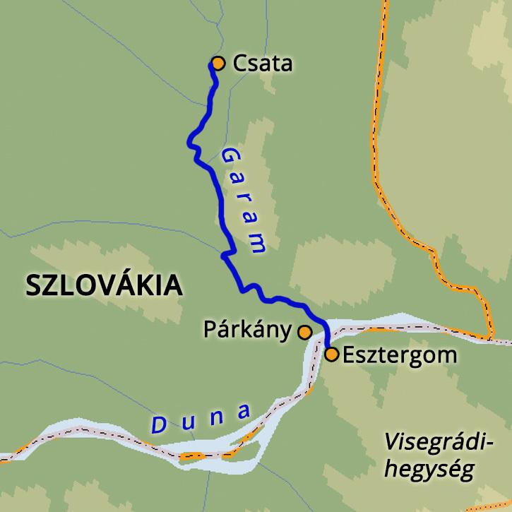 Vízitúra a Garamon Garam folyó, Szlovákia #mapImageWidget