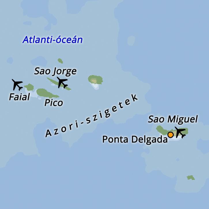 Azori-szigetek Portugal #mapImageWidget