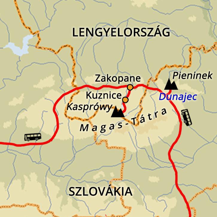 Pieninek, Dunajec és a Lengyel-Tátra Pieninek, Dunajec, Lengyel-Tátra #mapImageWidget