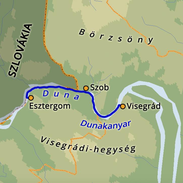 Vízitúra a Dunán: Esztergomtól Visegrádig Dunakanyar, Magyarország #mapImageWidget