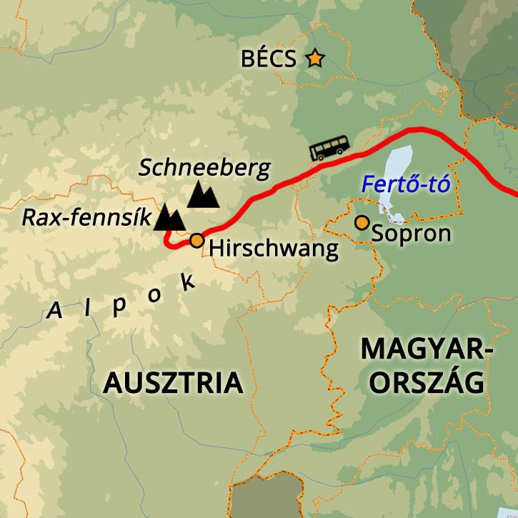 Rax-Alpok Téli Túra Hótalpakkal Rax-Alpok, Ausztria #mapImageWidget