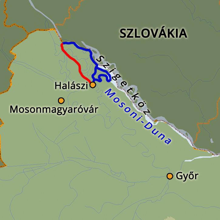 Vízitúra a Szigetközben Szigetköz, Magyarország #mapImageWidget