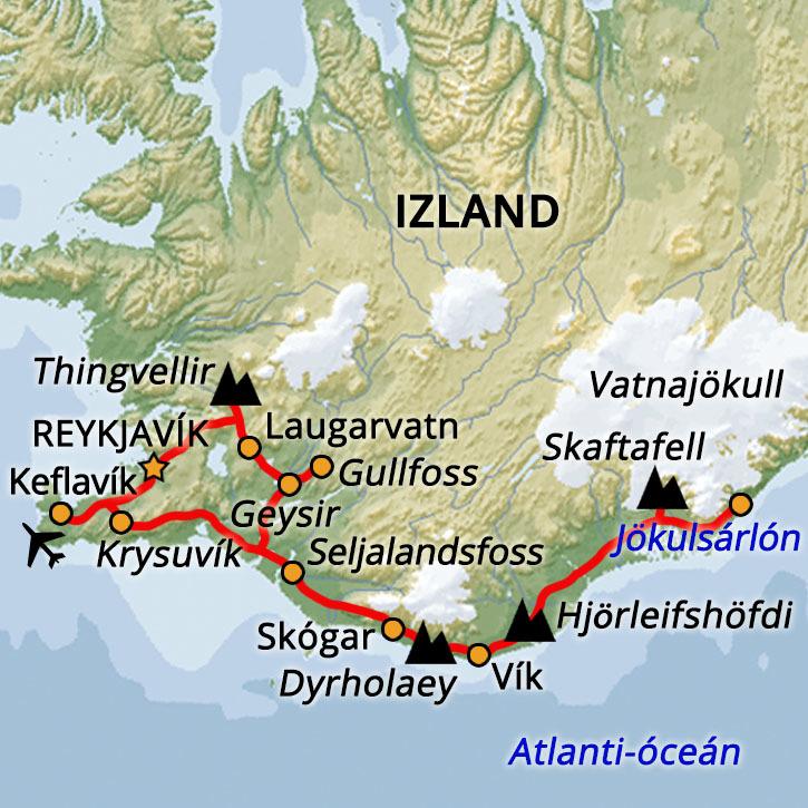 Izlandi Hétvége: Partvidék Izland, Partvidék #mapImageWidget