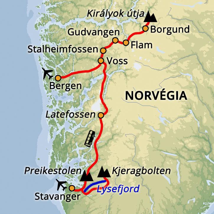 Norvégia Dél-Norvégia #mapImageWidget
