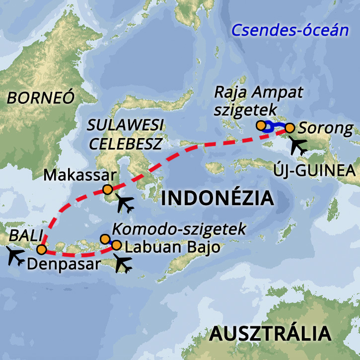 Komodo – Raja Ampat – Bali Indonézia #mapImageWidget