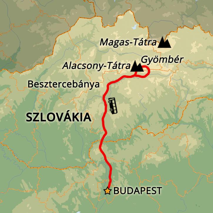 Alacsony-Tátra, Gyömbér Gyömbér, Alacsony-Tátra, Szlovákia #mapImageWidget
