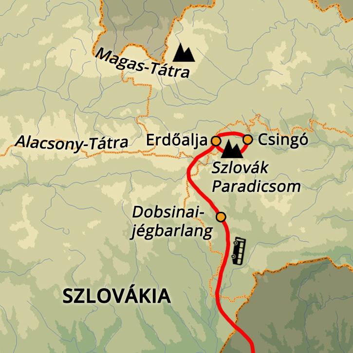 Szlovák Paradicsom Túrázás Szlovák Paradicsom Nemzeti Park #mapImageWidget
