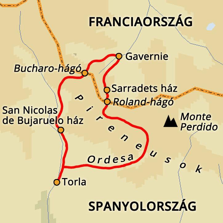 Pireneusok átkelés,Roland-hágó Pireneusok #mapImageWidget