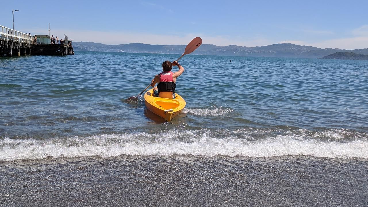 Single Kayak Hire 1 hour @ The Boatshed - Days Bay Lower Hutt, New Zealand