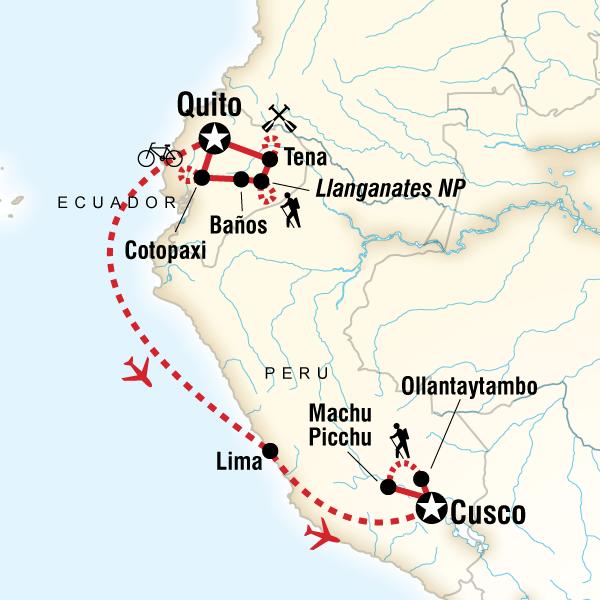 [] Active Ecuador & Peru Inca Trail, Peru, Ecuador #mapImageWidget