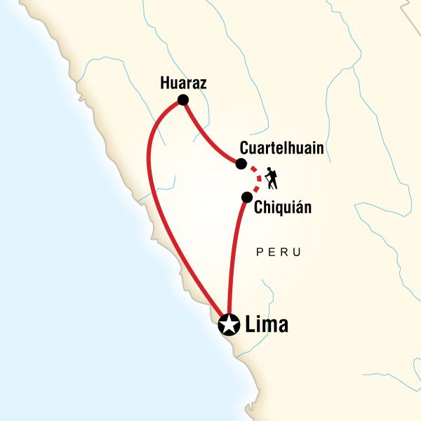 [] Trekking the Huayhuash Circuit Cordillera Huayhuash, Peru #mapImageWidget