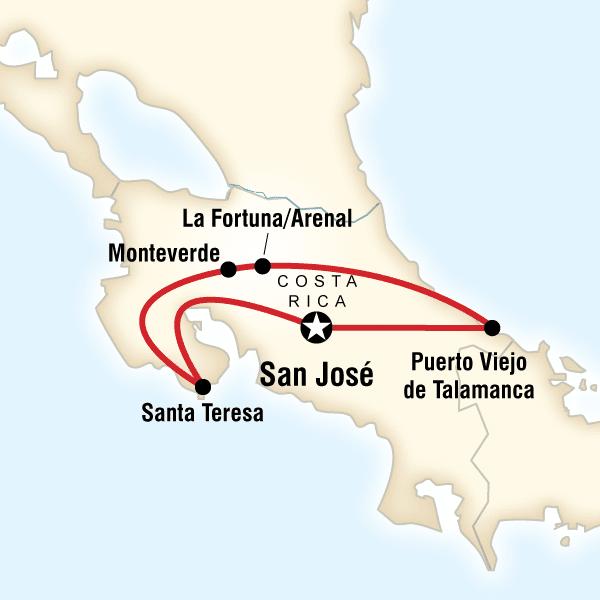 Basic Costa Rica Tour Costa Rica, Central America #mapImageWidget