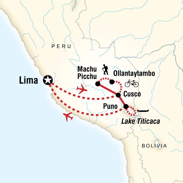 Peru Multisport Lima, Inca Trail, Cusco, Peru #mapImageWidget