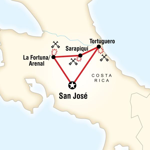 [] Costa Rica Kayaking Adventure Costa Rica, Central America #mapImageWidget