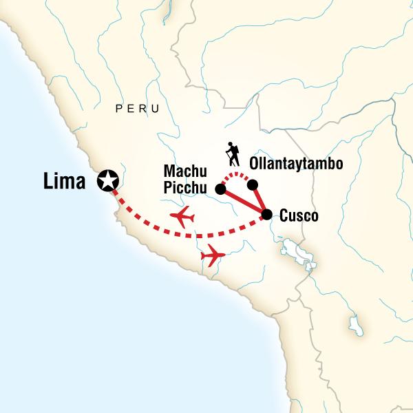 Inca Discovery Plus Machu Picchu, Cusco, Lima, Peru #mapImageWidget