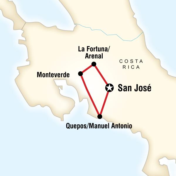 Costa Rica Quest Costa Rica, Central America #mapImageWidget