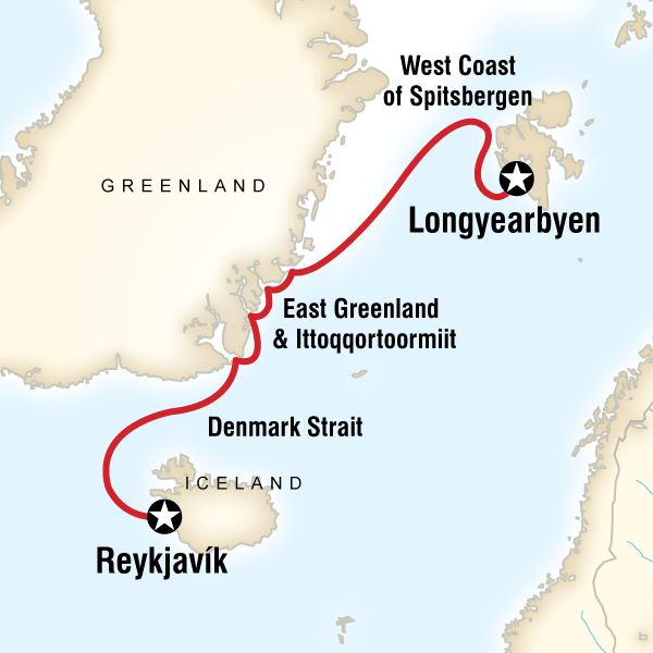 Arctic Highlights Iceland, Greenland #mapImageWidget
