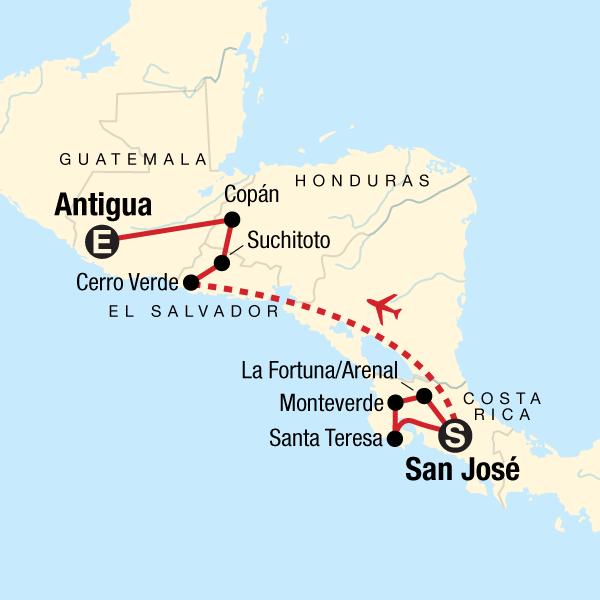 Backroads of Central America Costa Rica #mapImageWidget