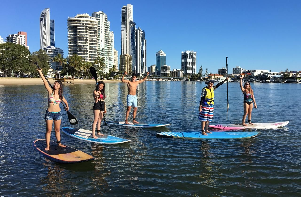 Stand Up Paddle (SUP) Beginner's Lessons Surfers Paradise QLD, Australia