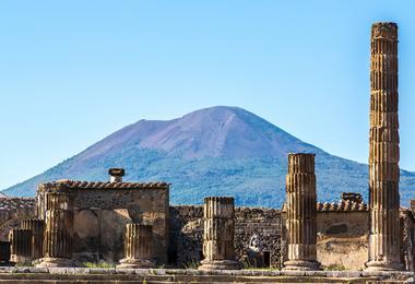 Mount Vesuvius as seen from Pompeii