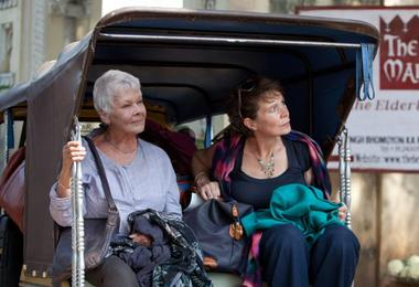 Judi Dench and Celia Imrie in The Best Exotic Marigold Hotel