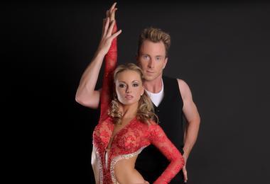James and Ola Jordan get ready to dance