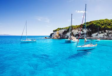 The Greek island of Paxos