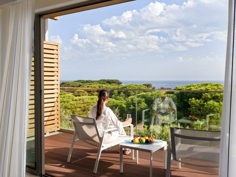 view from balcony of epic sana hotel in the algarve