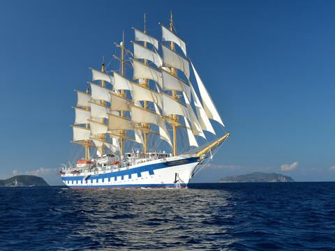 Sail the Caribbean on board the magnificent Royal Clipper
