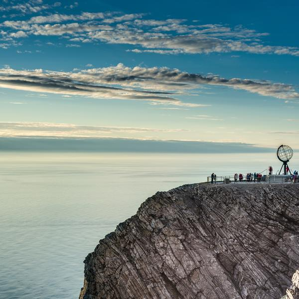 Nordkapp, the most northerly point of Europe