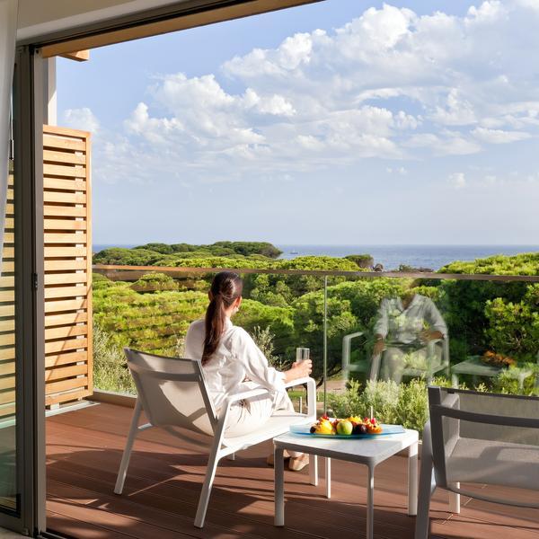 view from the balcony of Epic Sana spa resort in the Algarve, portugal