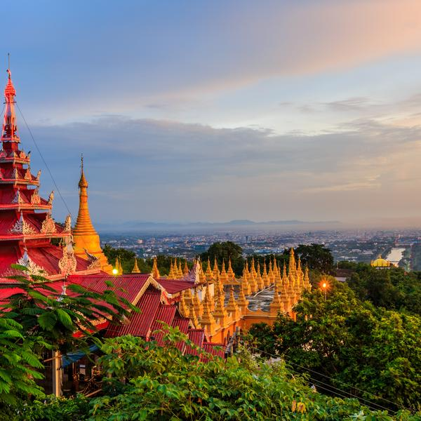 The view from Mandalay Hill in Myanmar