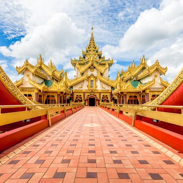Temple in Yangon in Myanmar