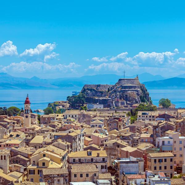 Rooftops of Corfu Town
