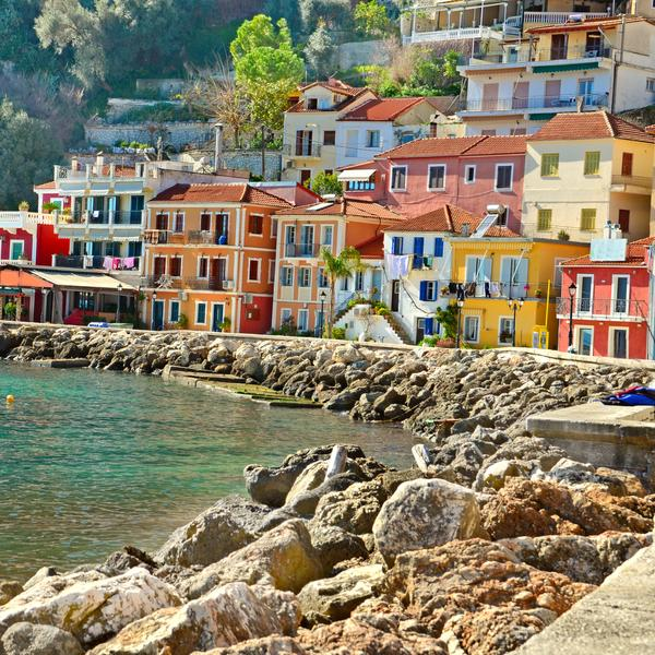 The port of Parga in Greece