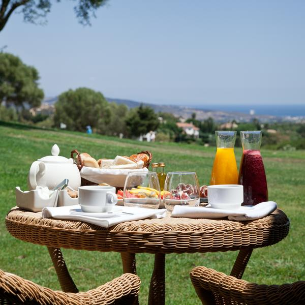 Breakfast overlooking the coast at the Hotel Almenara