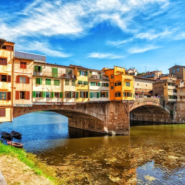 The Ponte Vecchio bridge in Florence in Italy