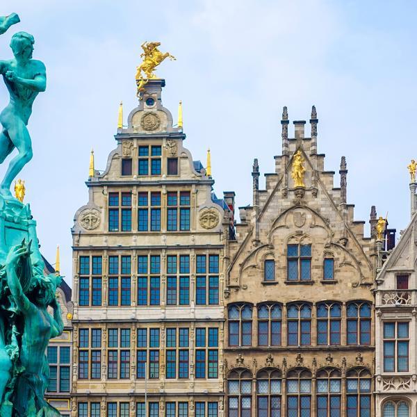 The Old town of Antwerp, Belgium