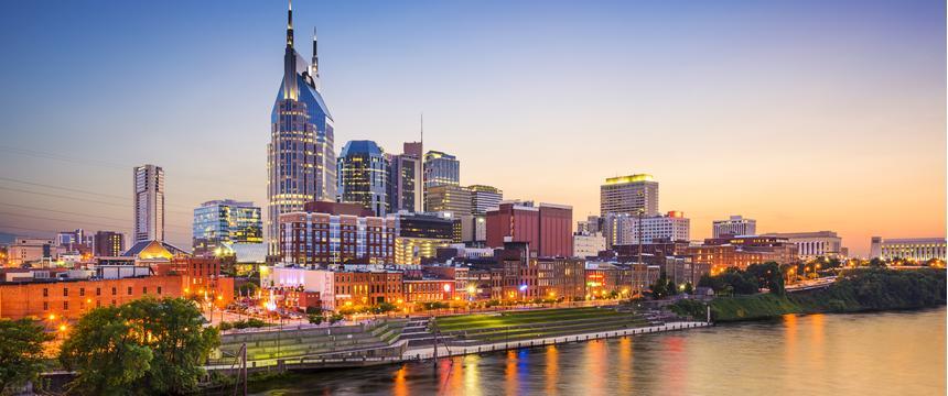 Nashville riverside- shutterstock