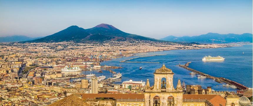 The Bay of Naples and Mount Vesuvius