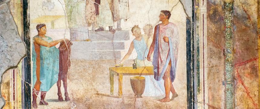 A fresco from the Roman town of Pompeii
