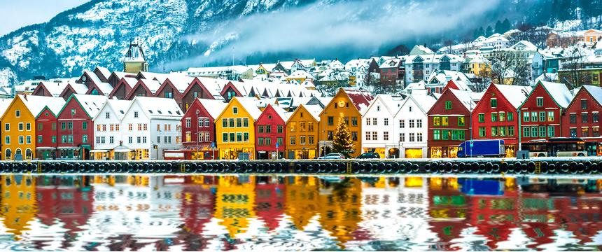 Bergen in winter